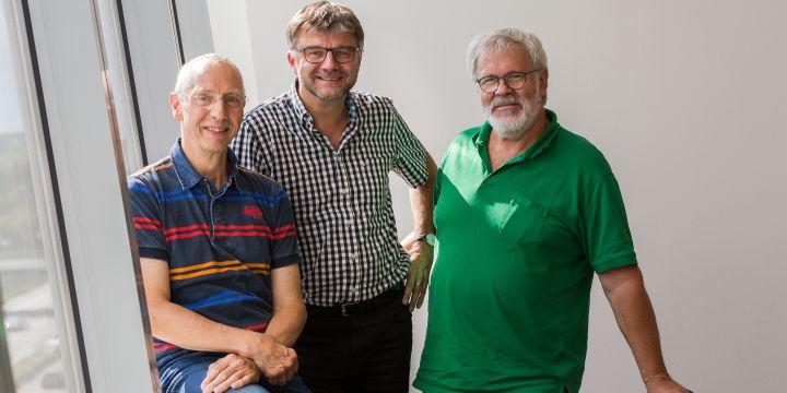 DJV-Bundesfachausschuss Bild: Dr. Bernd Seydel, Thomas Geiger und der scheidende Vorsitzende Manfred Herbertz