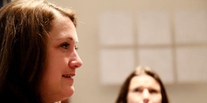 Aufgeschlossen und offen für die Fragen der BJV-KollegInnen: Die amerikanische Generalkonsulin Jennifer G. Gavito