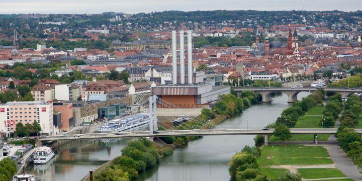 Herbstliche Ansicht von Würzburg