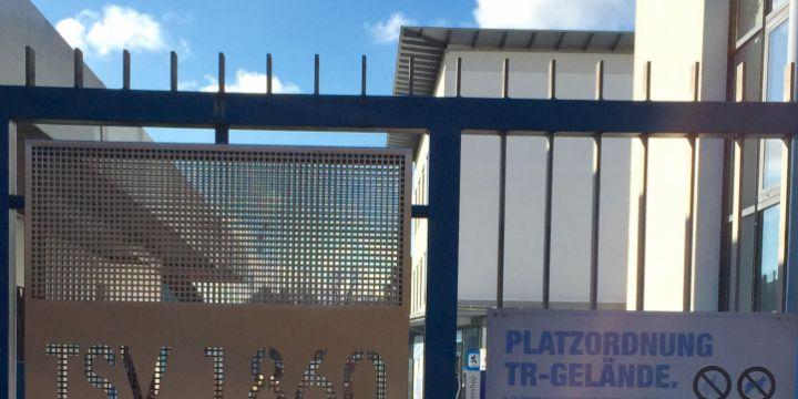 Verbotsschild am Trainingsgelände des TSV 1860 München