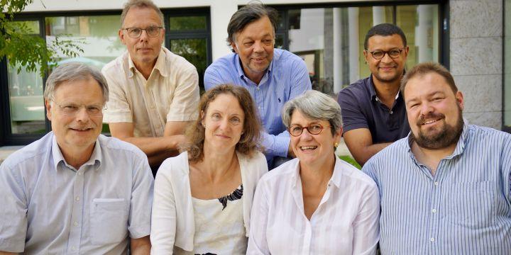 Engagieren sich für Europa: Rainer Reichert, Steffen Heinze, Miriam Leunissen, Michael Klehm (DJV-Geschäftsstelle), Libus Cerna, Dennis Amour und Wolfgang Grebenhof