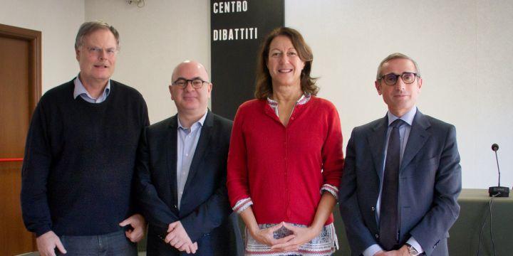 BJV & FNSI: Rainer Reichert, Carlo Parisi, Andrea Roth und Raffaele Lorusso