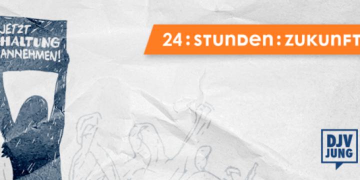 """""""Jetzt Haltung annehmen!"""" - lautet das Motto der diesjährigen 24-Stunden Zukunft-Tagung des DJV-Fachausschuss Junge Journalisten"""