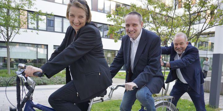 Das BJV-Mentoring-Team mit Barbara Weidmann, Thomas Mrazek und Wolfgang Soergel