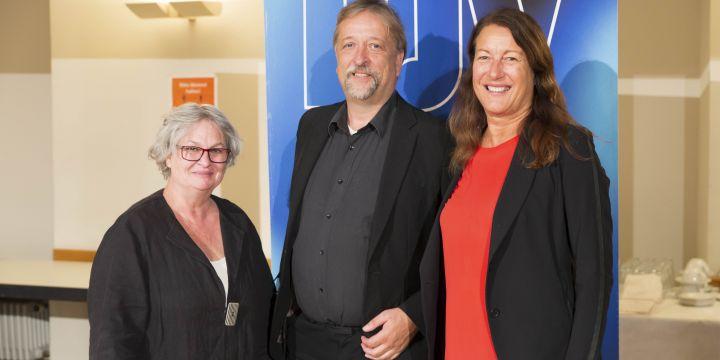 Gruppenbild Anne Webert, Michael Busch und Andrea Roth
