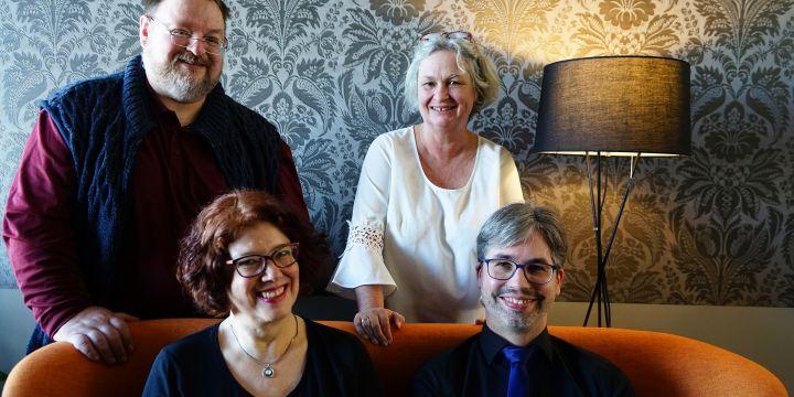 Vorstand der FG Freie mit Martin Semmler, Marion Trutter, Anne Webert und Johannes Michel