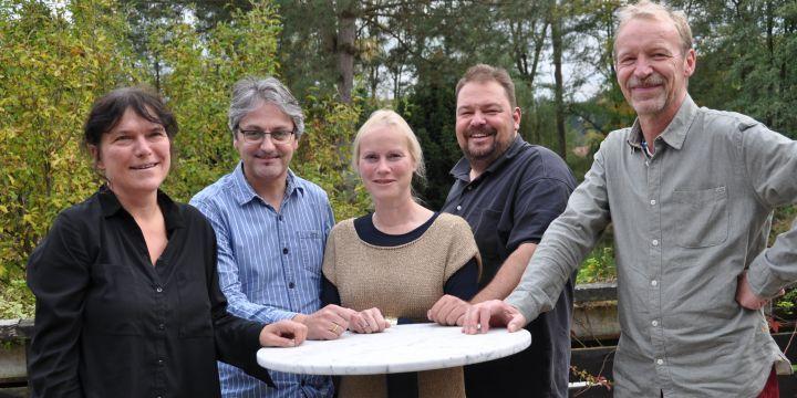 Der Vorstand der Fachgruppe: Katrin Fehr, Josef Schäfer (Vorsitzender), Judith Stephan, Wolfgang Grebenhof und Gunter Becker