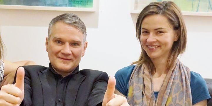 Der Vorstand der Fachgruppe Rundfunk: Harald Stocker und Sabine Prokscha