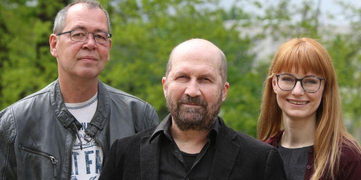 Vorstand des BJV-Bezirksverbands Franken – Nordbayern mit Jürgen F. Dennerlohr, Dieter Germann und Beke Maisch