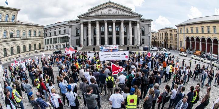 Streikkundgebung am Dienstag, 24. April in München