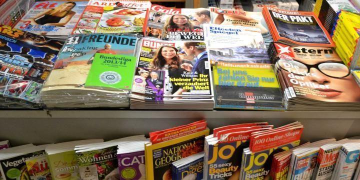 Zeitschriften im Kiosk
